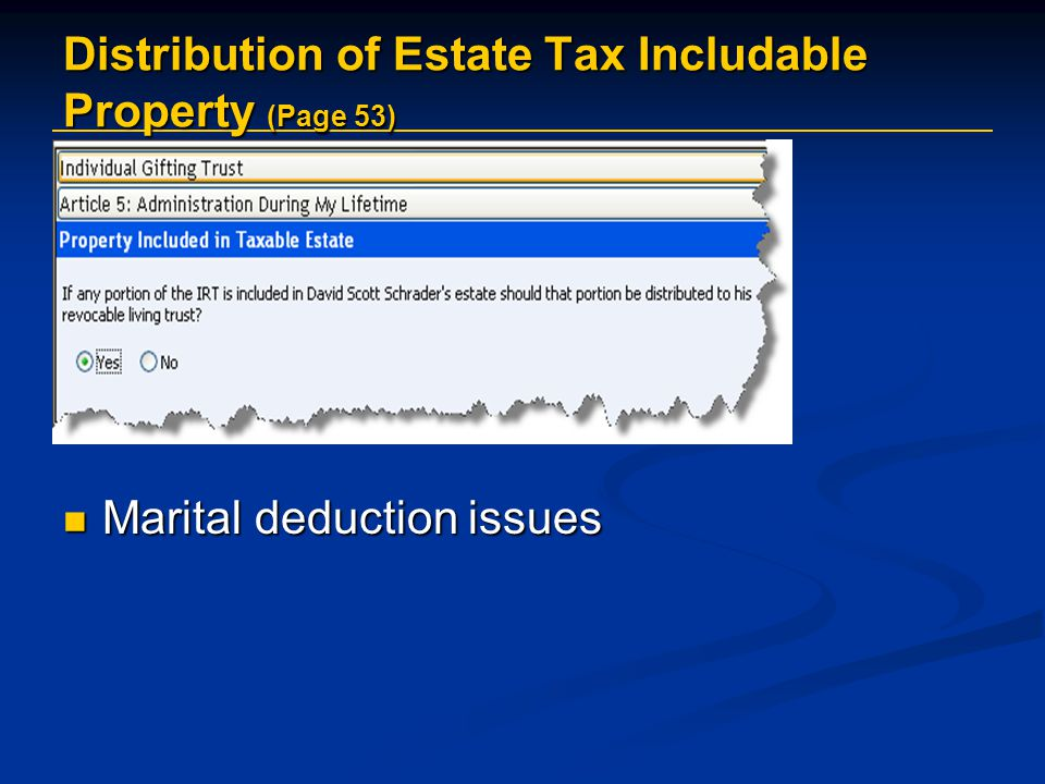 Distribution of Estate Tax Includable Property (Page 53)