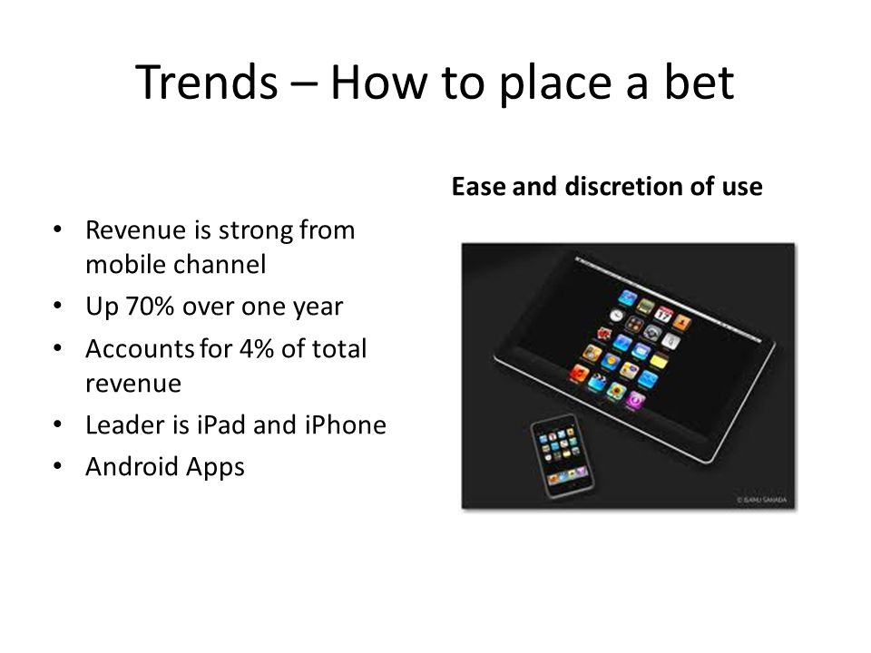 Trends – How to place a bet