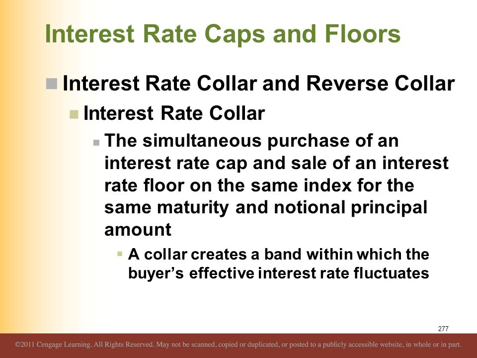 Interest Rate Caps and Floors