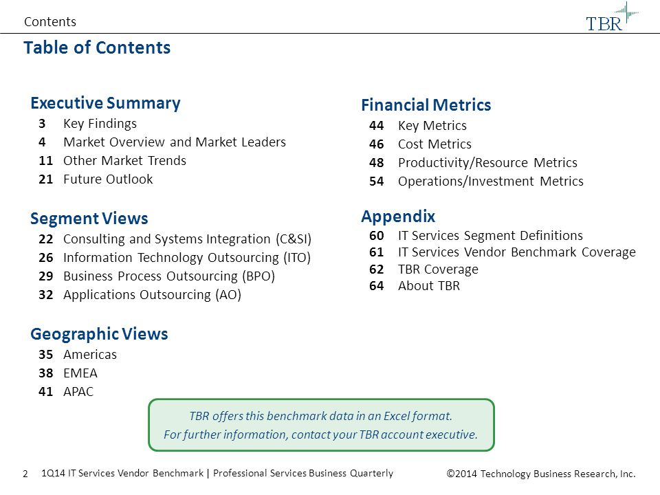 Table of Contents Executive Summary Financial Metrics Segment Views