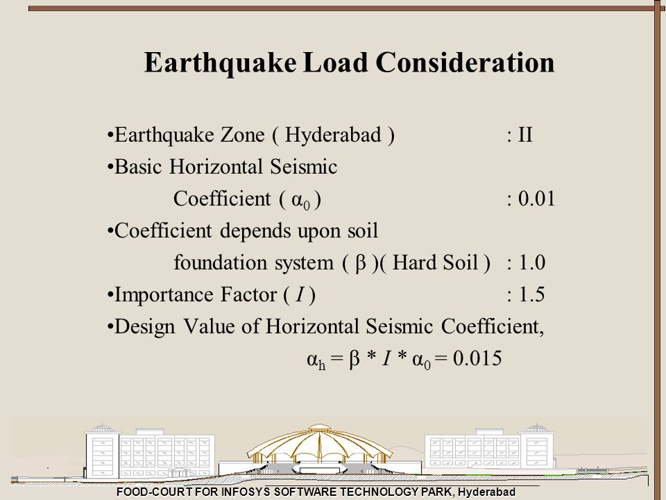 Earthquake Load Consideration
