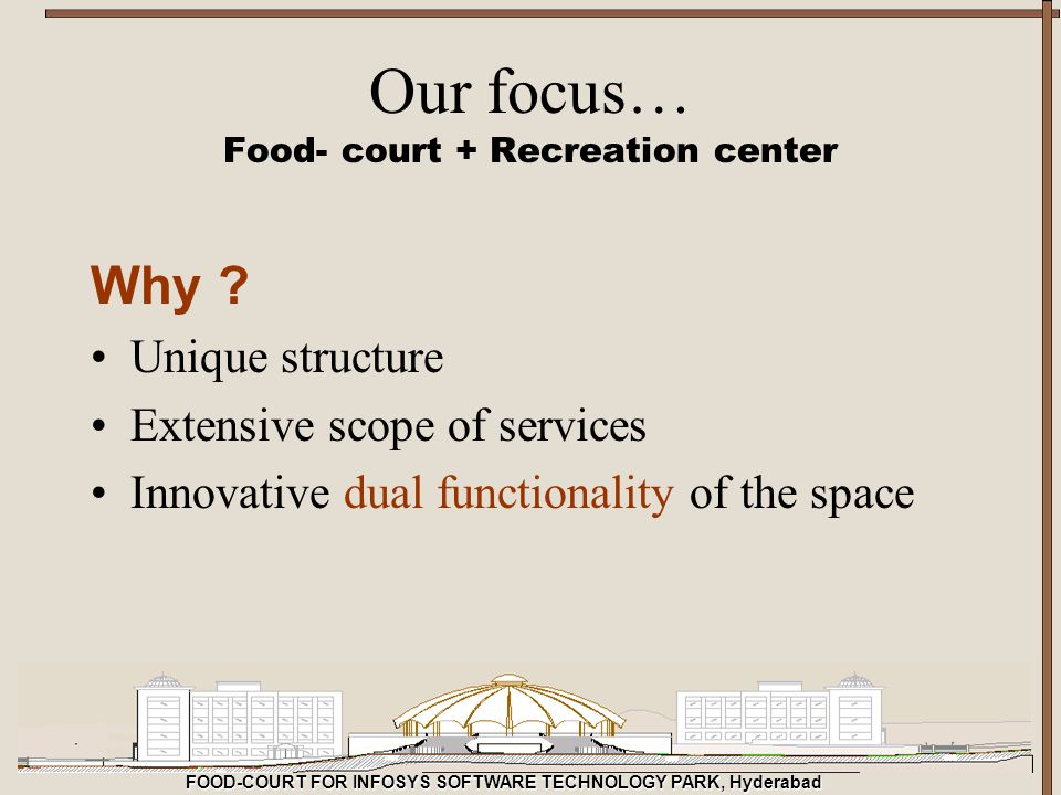 Food- court + Recreation center