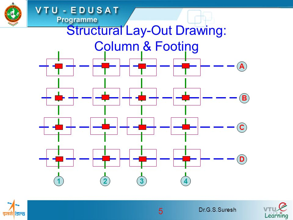 Structural Lay-Out Drawing: Column & Footing