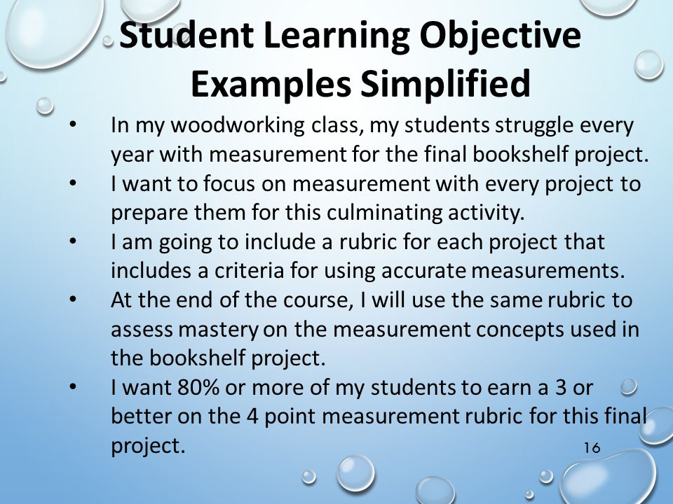 Student Learning Objective Examples Simplified