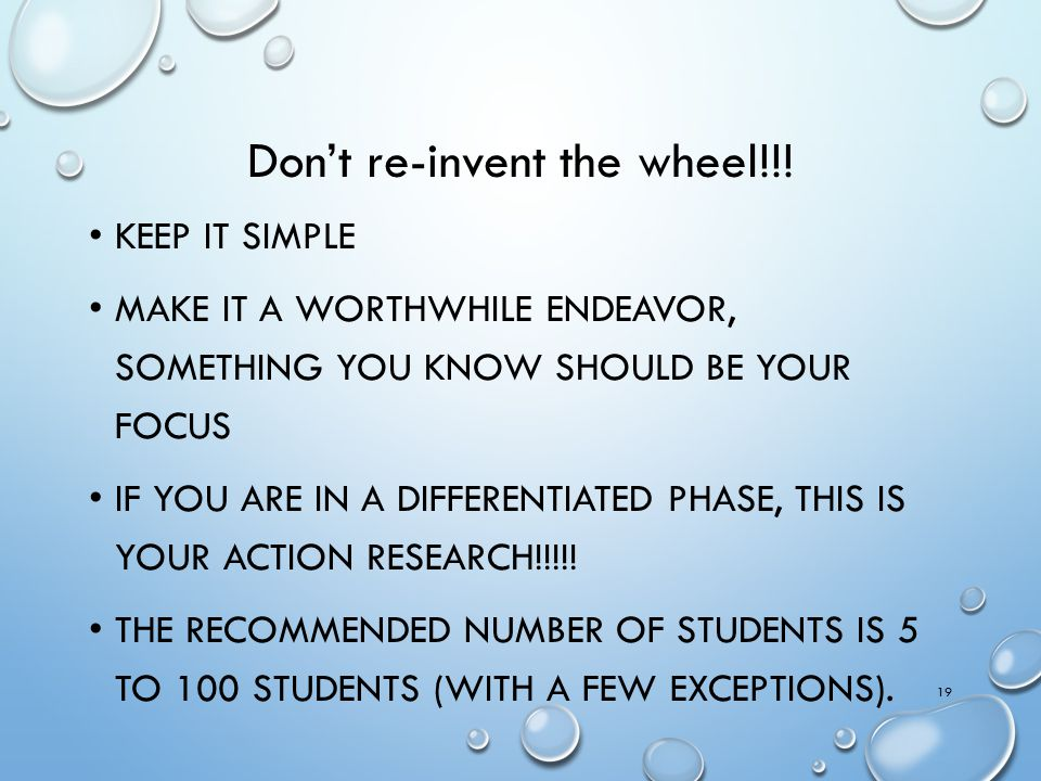 Don't re-invent the wheel!!!