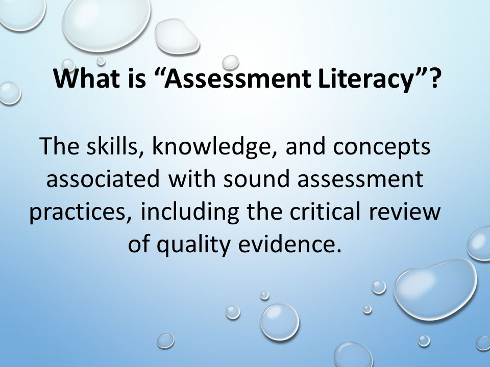 What is Assessment Literacy