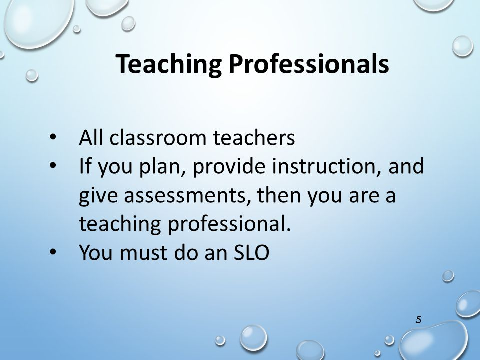 Teaching Professionals
