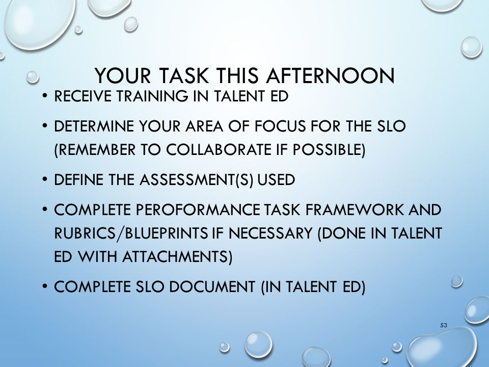 Your task this afternoon