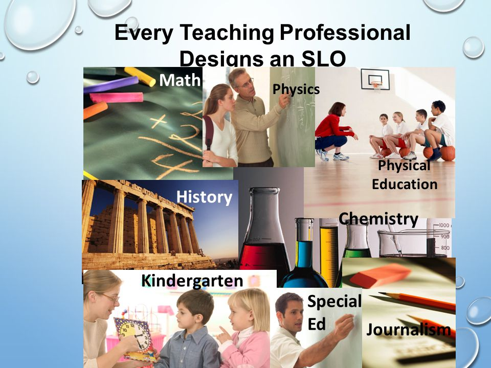 Every Teaching Professional Designs an SLO