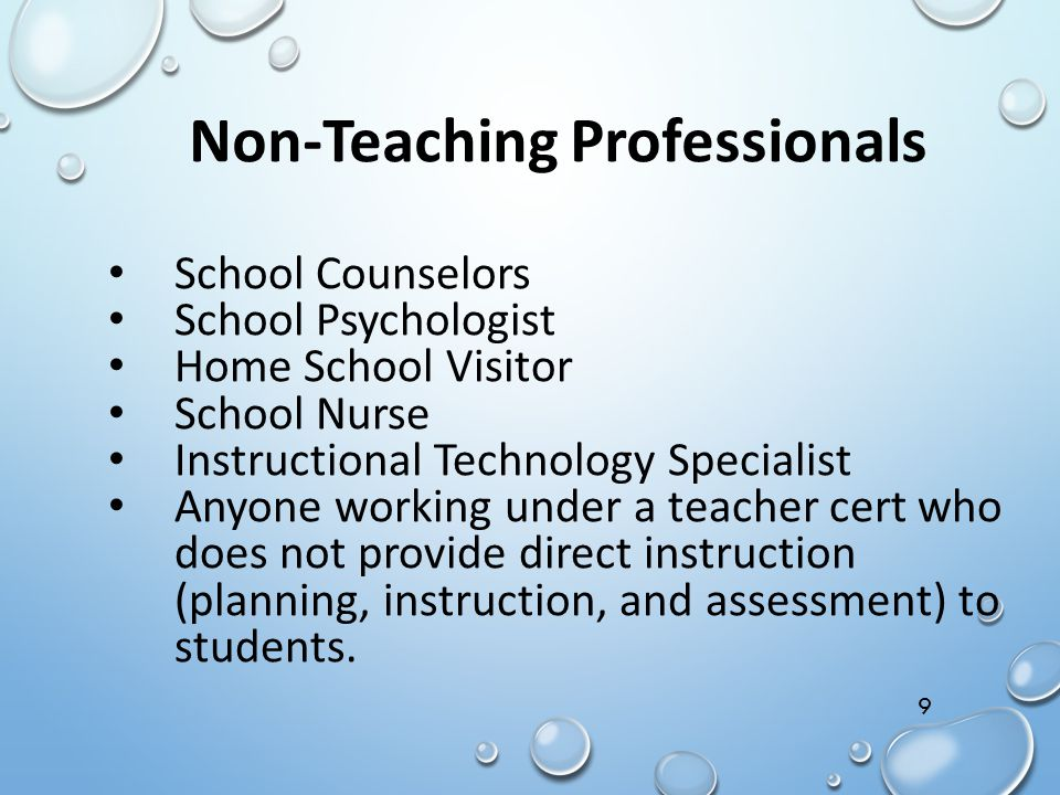 Non-Teaching Professionals