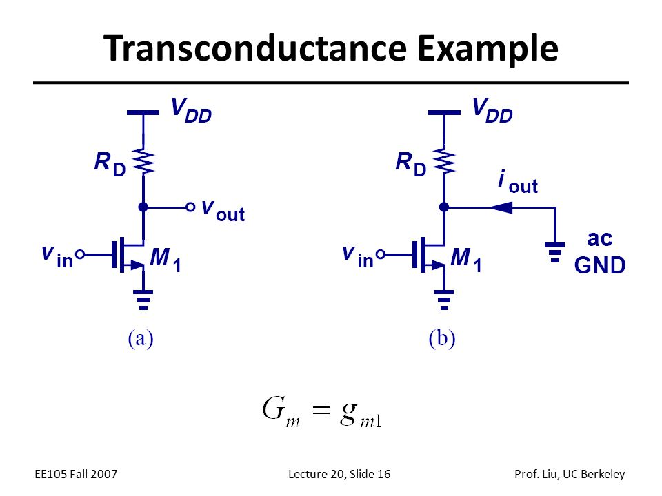Transconductance Example