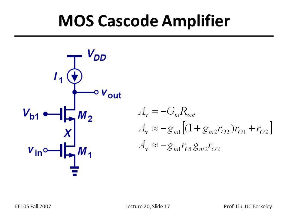 lecture 20 announcements outline review of mosfet