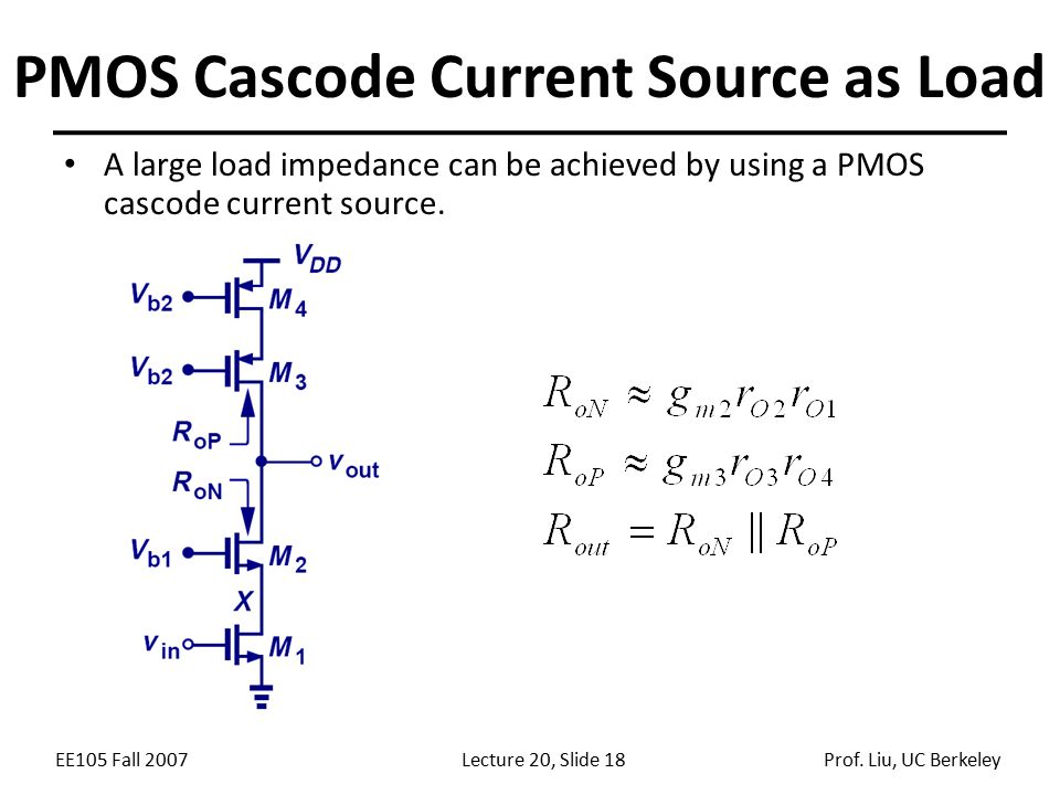 PMOS Cascode Current Source as Load