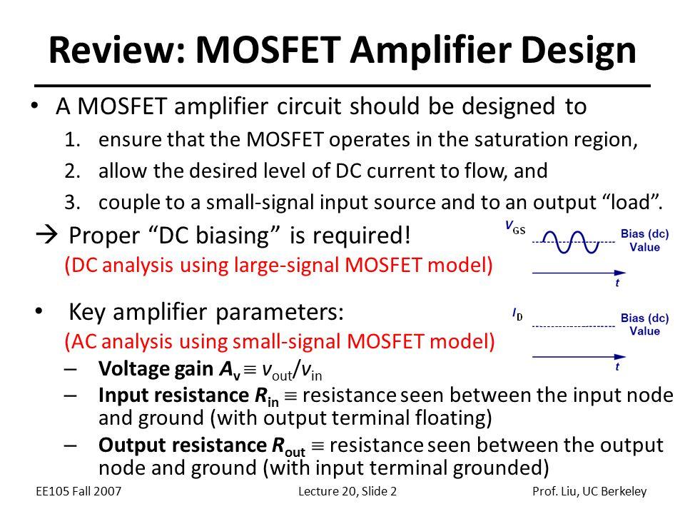 Review: MOSFET Amplifier Design