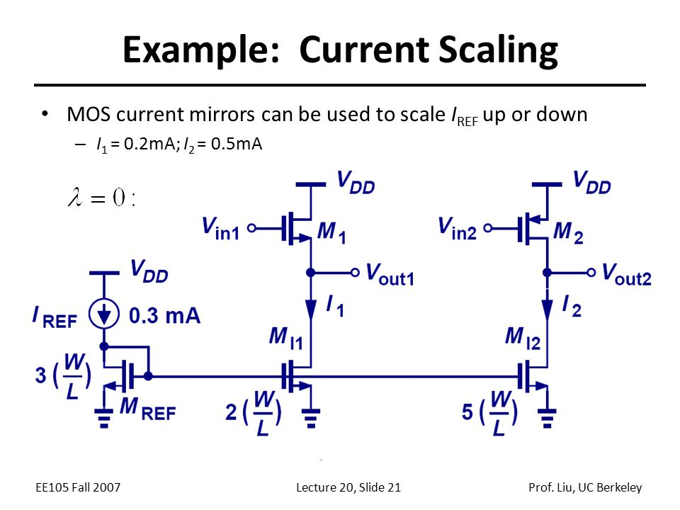Example: Current Scaling