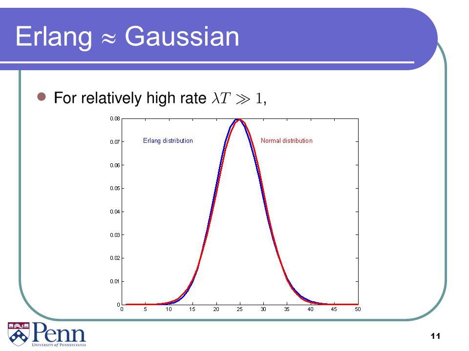 Erlang  Gaussian