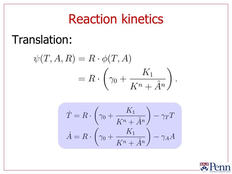 Reaction kinetics Translation: