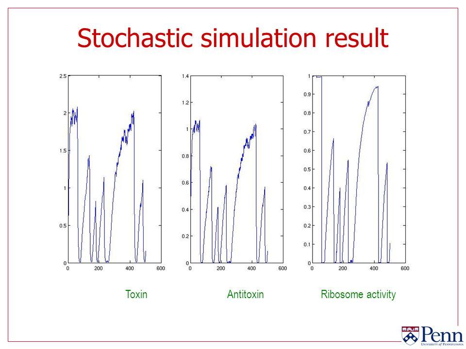 Stochastic simulation result