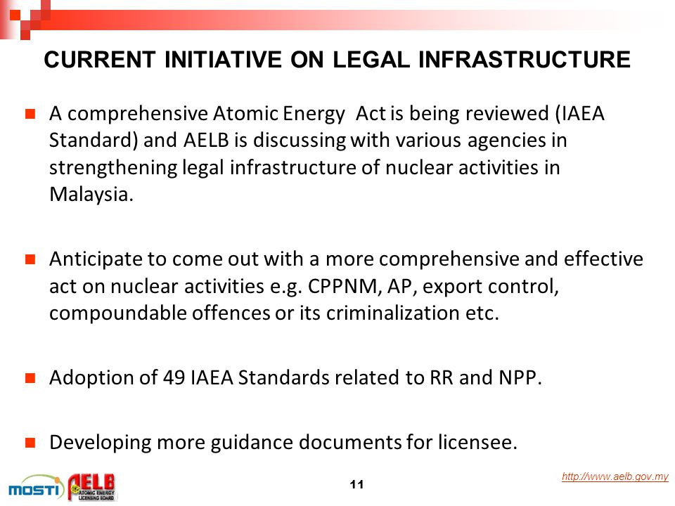 CURRENT INITIATIVE ON LEGAL INFRASTRUCTURE