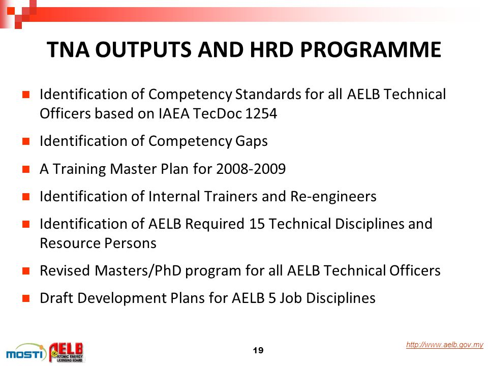 TNA OUTPUTS AND HRD PROGRAMME