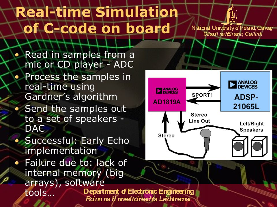 Real-time Simulation of C-code on board