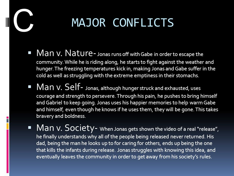 C MAJOR CONFLICTS.