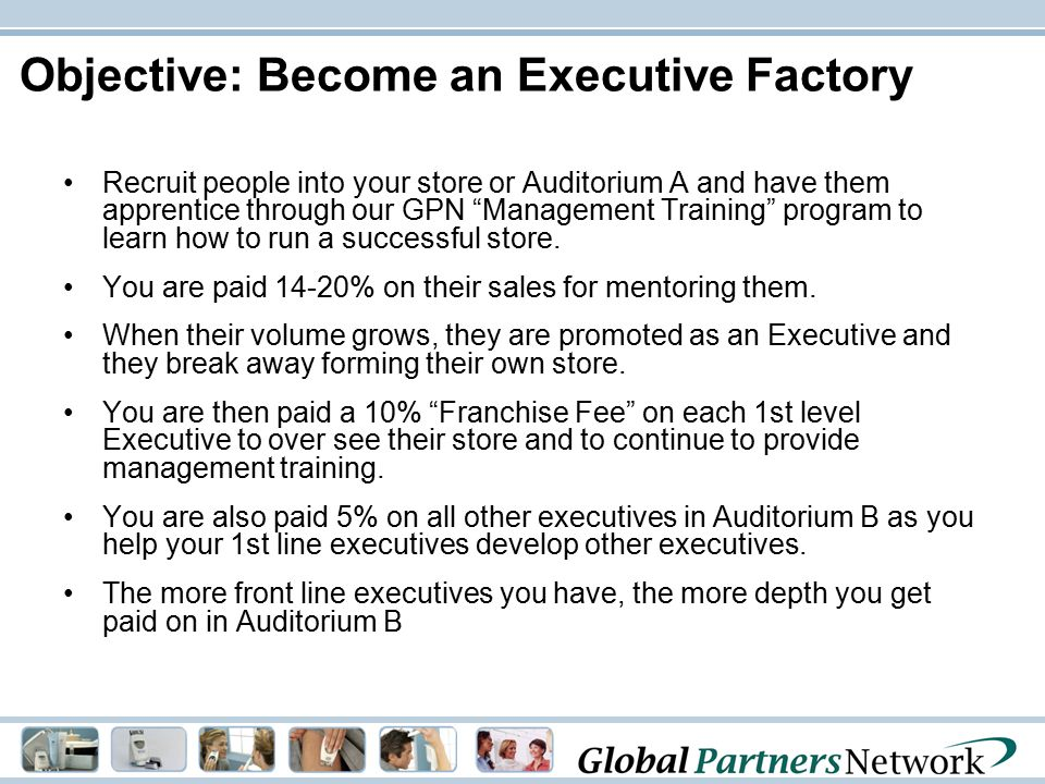 Objective: Become an Executive Factory
