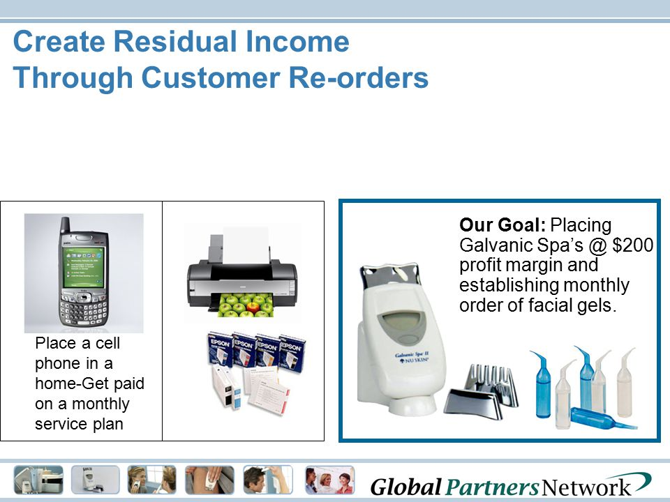 Create Residual Income Through Customer Re-orders