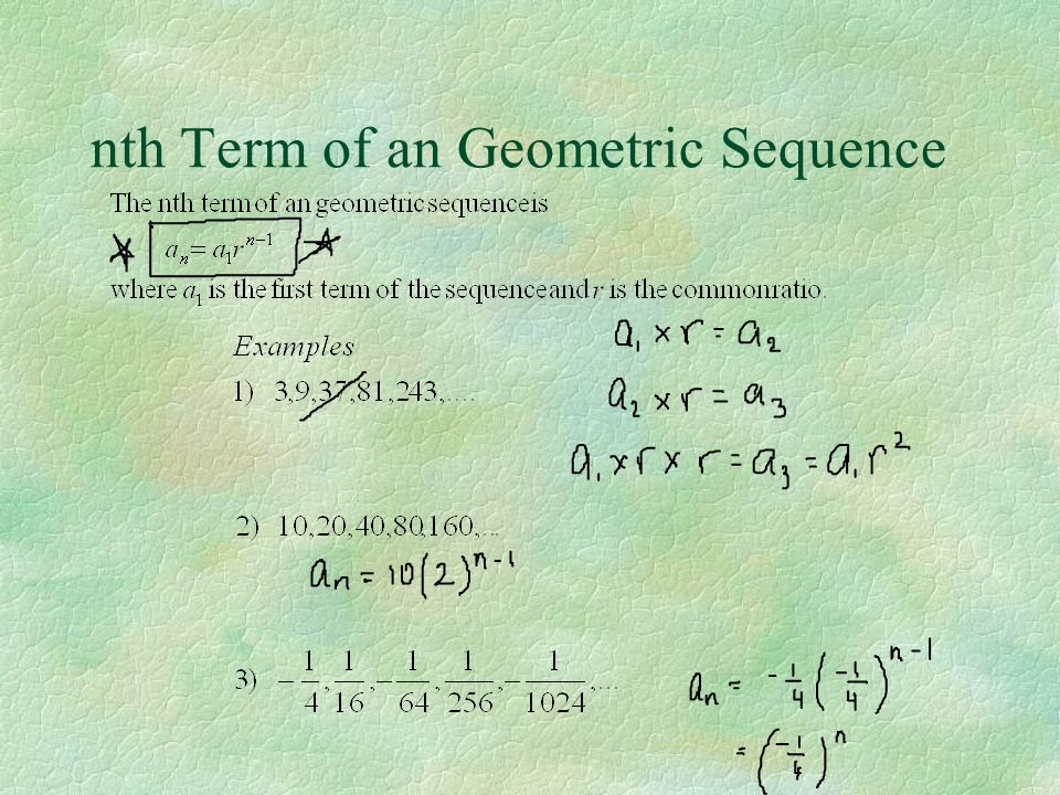 nth Term of an Geometric Sequence