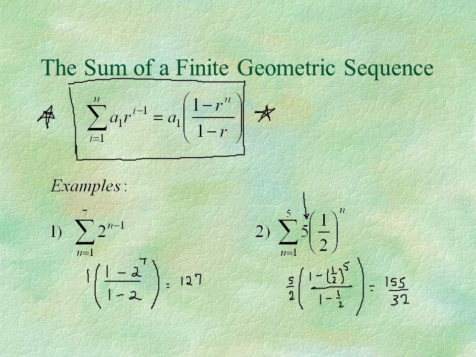 The Sum of a Finite Geometric Sequence