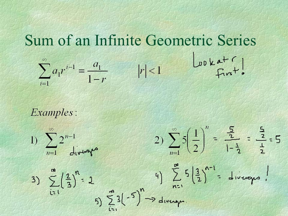 Sum of an Infinite Geometric Series