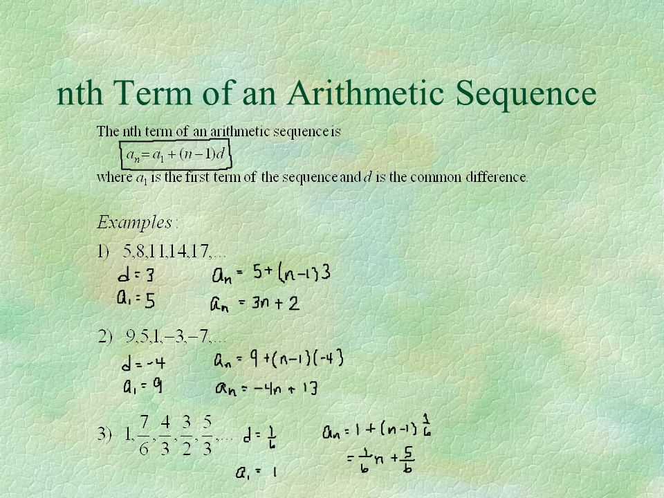 nth Term of an Arithmetic Sequence