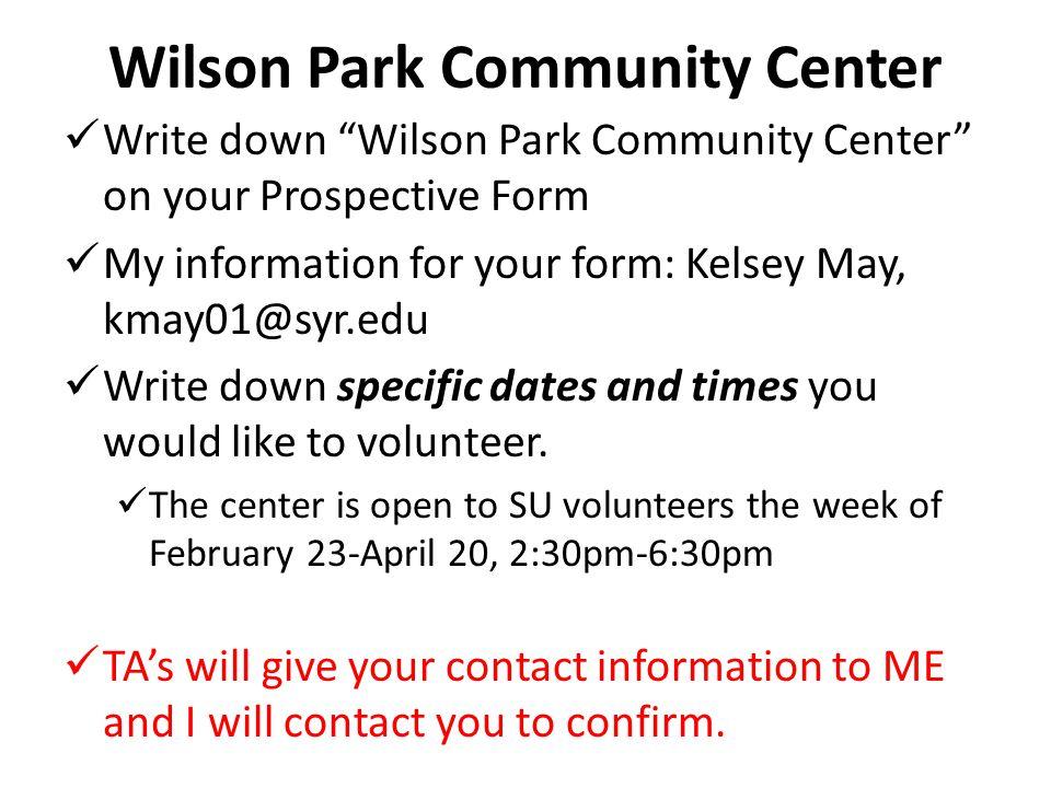 Wilson Park Community Center