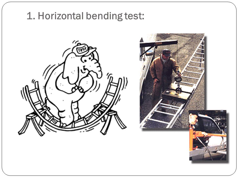 1. Horizontal bending test: