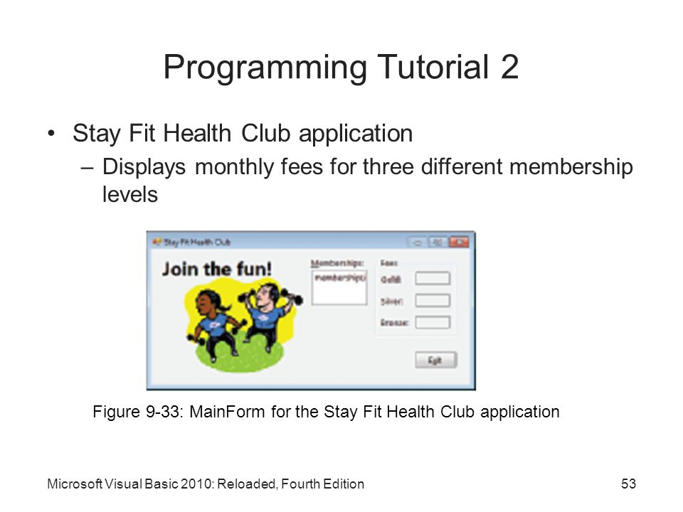 Programming Tutorial 2 Stay Fit Health Club application