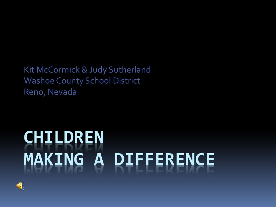 Children Making a Difference