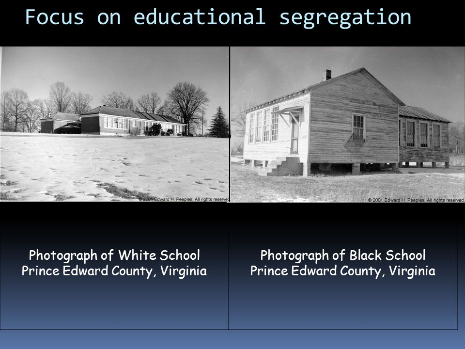 Focus on educational segregation
