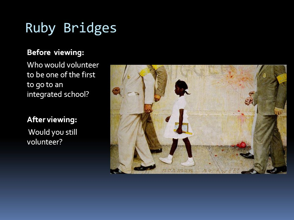 Ruby Bridges Before viewing: