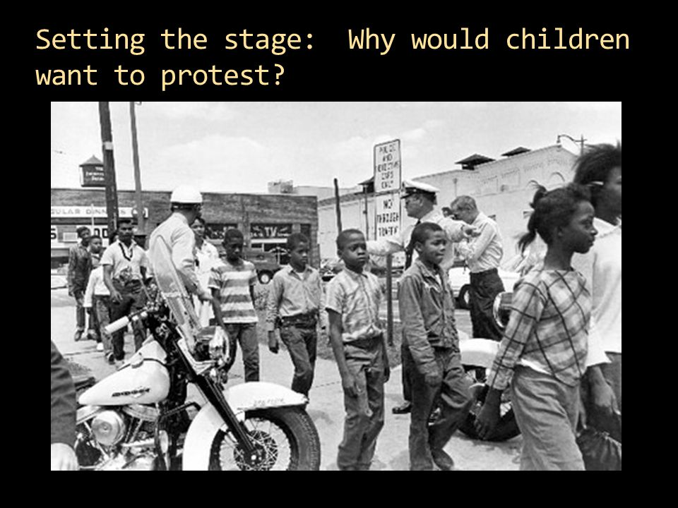Setting the stage: Why would children want to protest