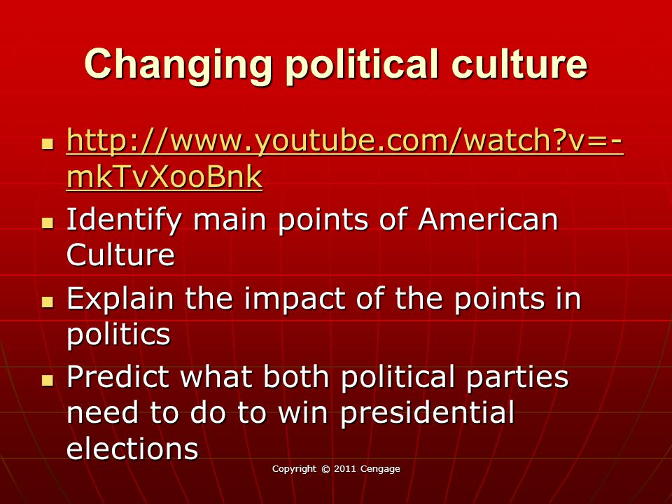 Changing political culture