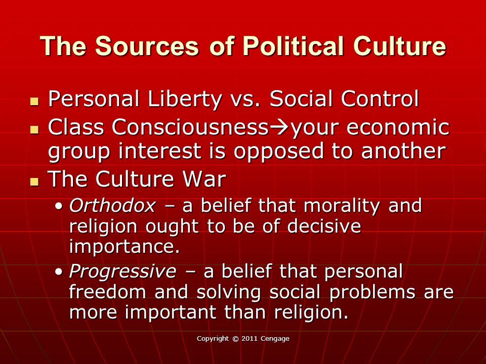 The Sources of Political Culture