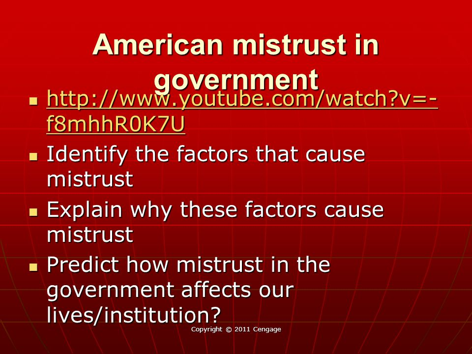 American mistrust in government
