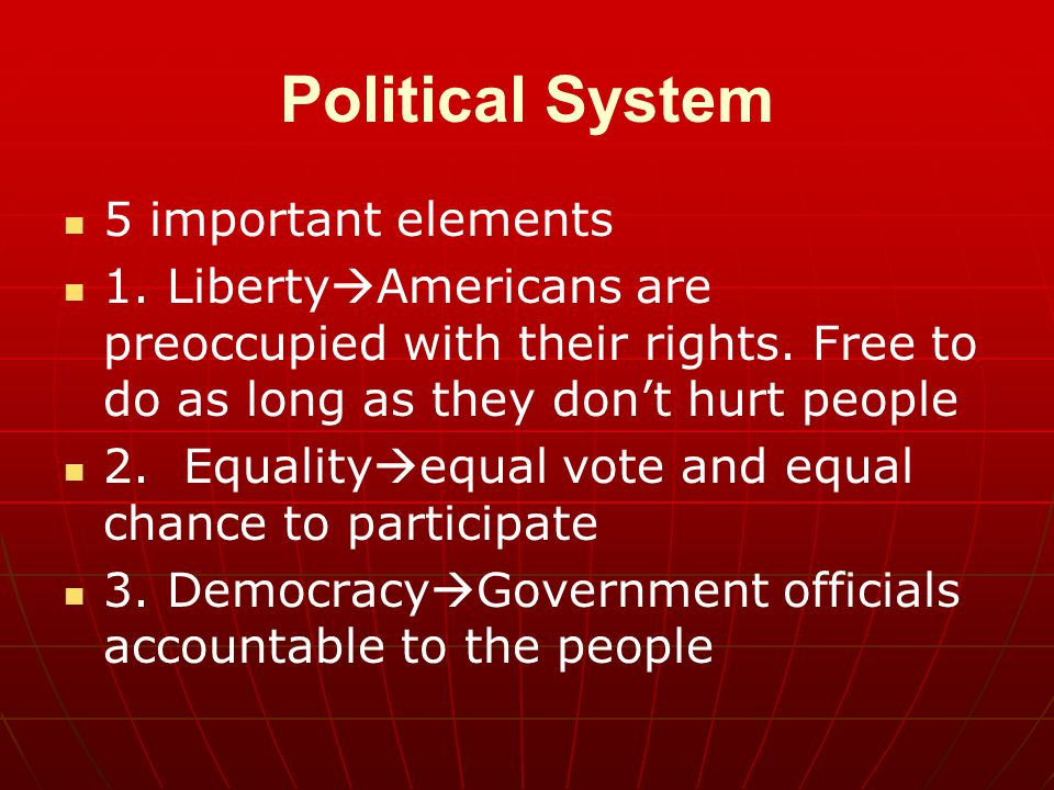 Political System 5 important elements
