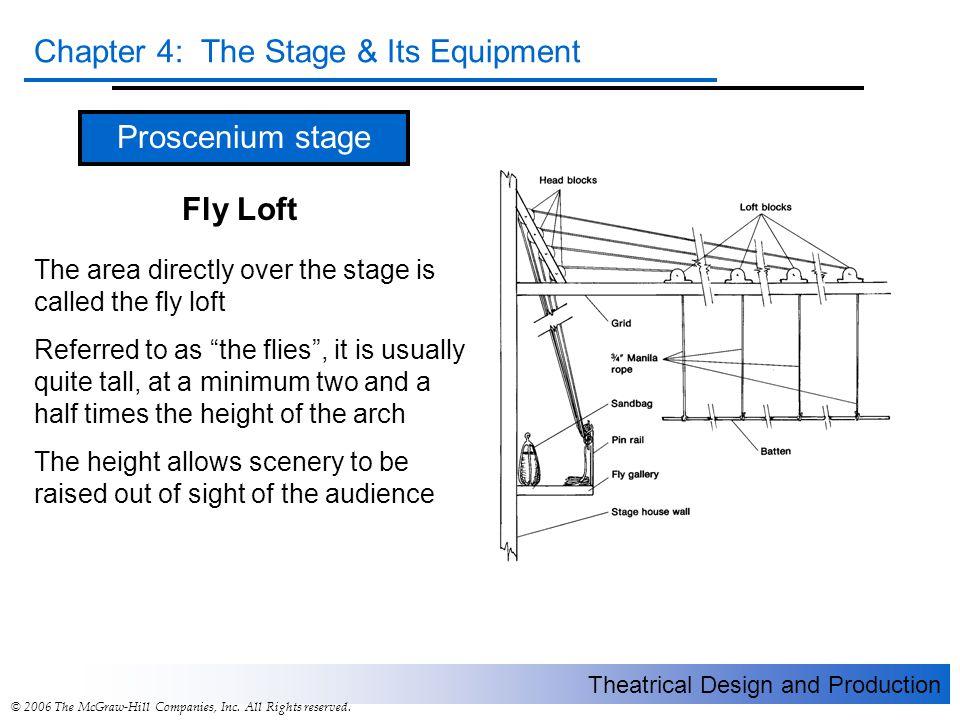 Proscenium stage Fly Loft