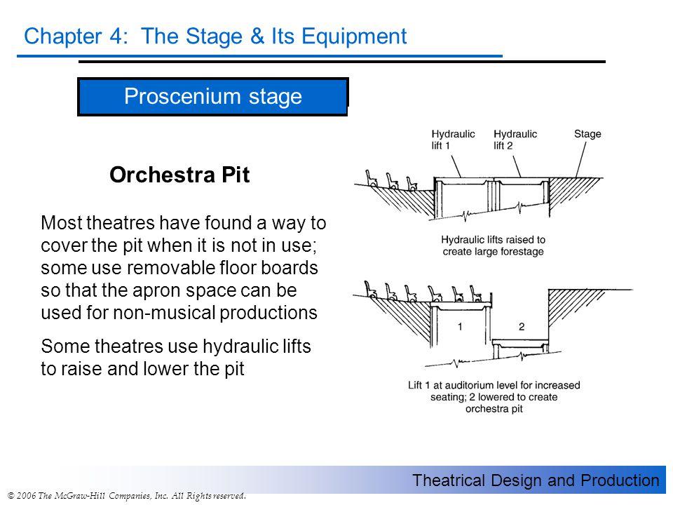 Proscenium stage Orchestra Pit