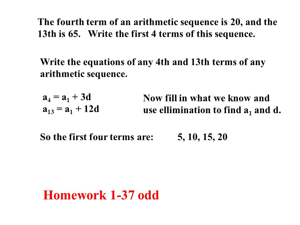 The fourth term of an arithmetic sequence is 20, and the