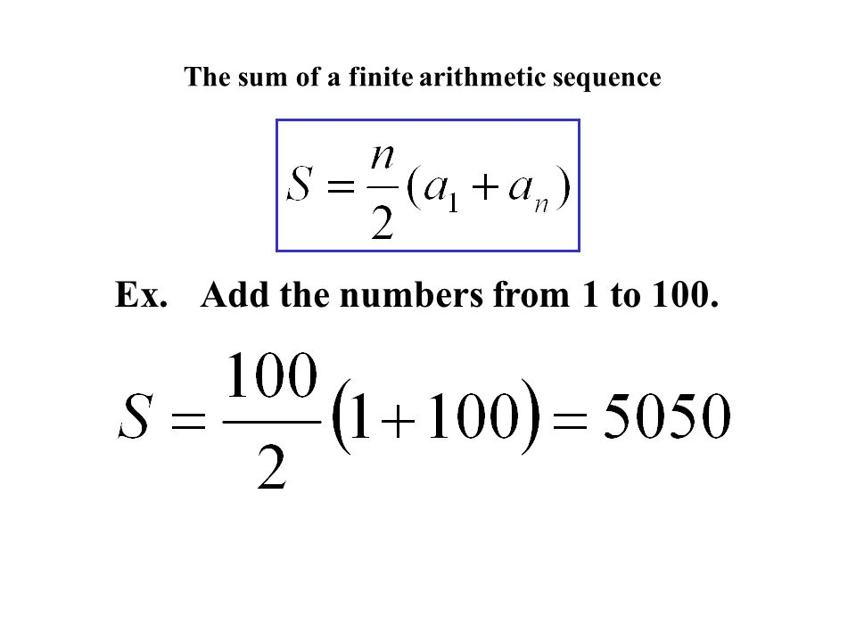 The sum of a finite arithmetic sequence