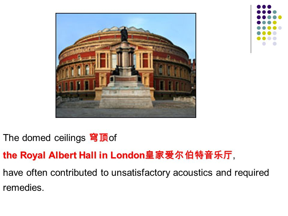 The domed ceilings 穹顶of
