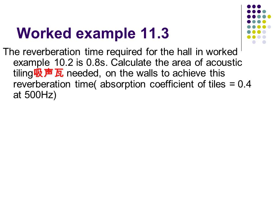 Worked example 11.3