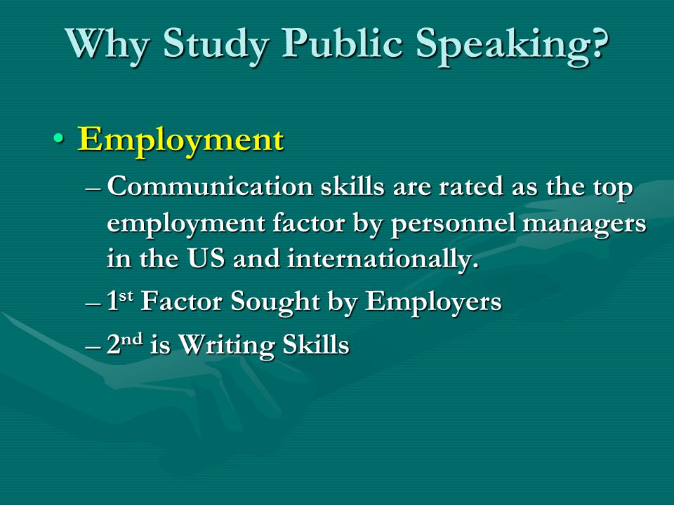 Why Study Public Speaking